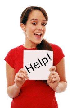 Learners test Girl Help Image